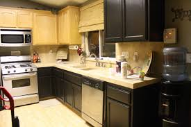 how to paint oak cabinets black another one simple kitchen remodel painting laminate