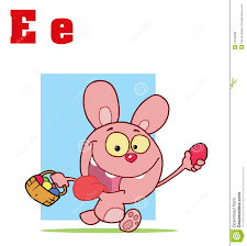 funny cartoons alphabet easter bunny with letters royalty free
