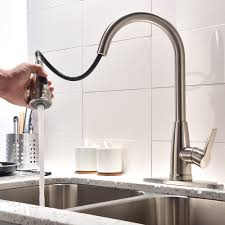 best single handle pull out down sprayer kitchen sink faucets hotis modern 1 or 3 hole pull down swivel single handle stainless steel prep sprayer pull out touch kitchen faucet