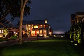 Mansion Design Photos Mansion Trunk Tree Lawn Night Time Street Lights Cities