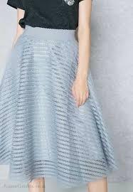 light blue skater skirt ginger light grey striped mesh skater skirt 2018 new product women