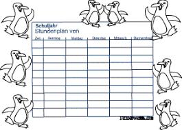 stundenplan designen stundenpläne zum gestalten für kinder