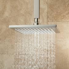 devereaux ceiling mount shower head with square arm bathroom