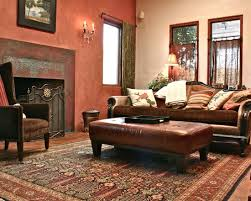 great earth tones and terra cotta wall color that blends