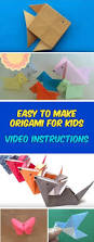 easy origami for kids animals with video instructions
