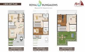 floor plan man developments royal bungalows at rajendra nagar