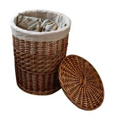 home storage organization handmade woven wicker cattail laundry