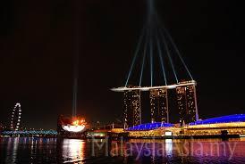 Bay Bridge Light Show Marina Bay Sands Singapore Light Show Malaysia Asia