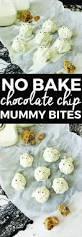 no bake chocolate chip mummy bites dessert recipes halloween