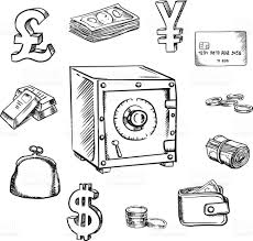 money currency and finance sketch icons stock vector art 504426154