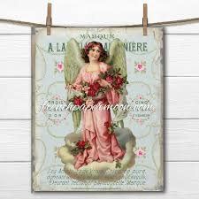 shabby chic printable victorian angel french shabby christmas