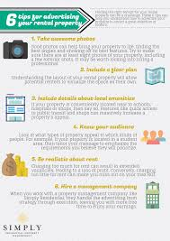 6 tips for advertising your rental property infographic simply