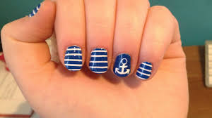 anchor u0026 stripes nail art youtube