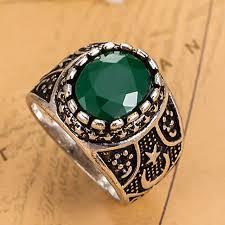 men vintage rings images Luxury brand vintage resin rings women wedding jewelry green color jpg