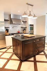 Kitchen Island Sets Flooring Warm Kitchen Floor Tiles With Range Hood And Recessed