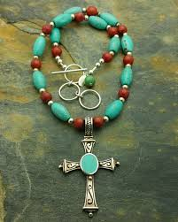 spiritual jewelry sterling silver turquoise cross necklace spiritual jewelry sjc