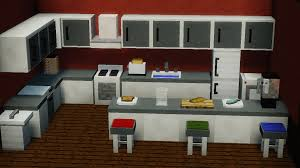 minecraft kitchen furniture finally finished the kitchen furniture for my mod what do you