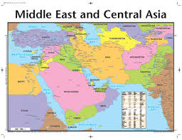 middle east map kazakhstan middle east and central asia map includes the 10 40 window