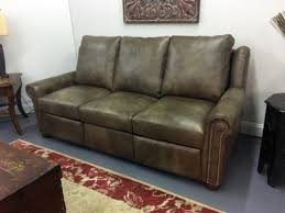 frazier recliner sofa with nails american heritage leather made