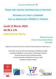 chambre d arbitrage de journée médiation ohada et droit français à toulouse le lundi 12