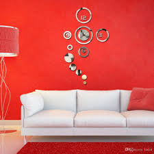 modern 3d home decoration wall clock modern design stickers