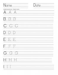 Worksheets For Kindergarten Printable Math Blank Handwriting Sheets For Kindergarten Printable Free