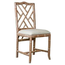 Oak Dining Furniture Crain Hollywood Regency Bamboo Fret Oak Dining Chair Kathy Kuo Home