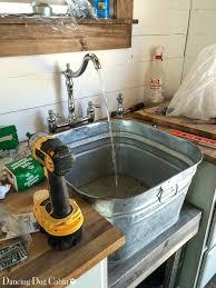galvanized tub kitchen sink galvanized bucket sink galvanized bathroom sink pallet projects