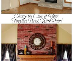 Fireplace Brick Stain by Fireplace U2013 Remodelaholic
