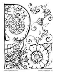 halloween coloring pages halloween coloring sugar skulls
