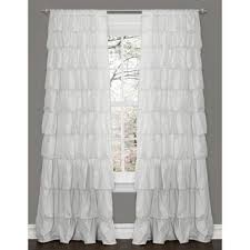 lush decor belle white 84 inch curtain panel free shipping on