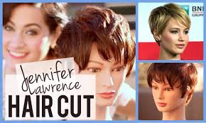 jennifer lawrence haircut tutorial pixie cut youtube