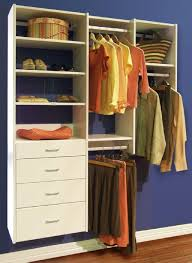 Hanging Closet Shelves by Closets To Go Simple Reach In Closet Organizer Custom Closet
