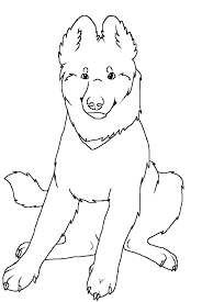 german shepherd coloring pages free coloring page for kids