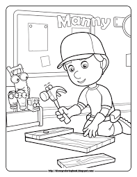 handy manny 1 free disney coloring sheets learn coloring