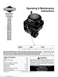 brigs straton carburetor motor oil