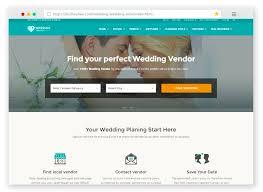 wedding vendor websites 25 best html wedding website templates for 2017