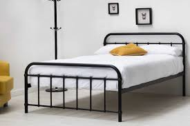 king iron bedroom metal frame australia spindle rails single nz