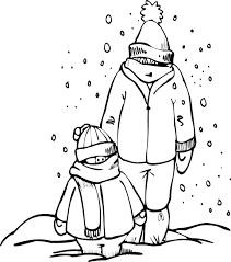 print bundled up on winter clothes coloring pages or download