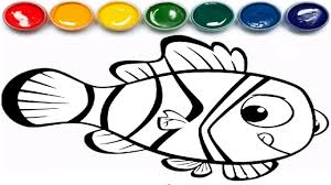 fish coloring pages learn coloring page youtube