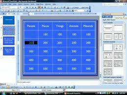 jeopardy powerpoint creating hyperlinks youtubejeopardy