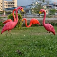 home lawn decoration red flamingo ornament artificial home garden lawn decoration