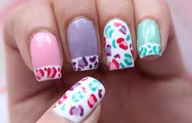 pastel cheetah print nails dee2102 youtube