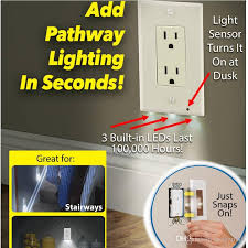 wall plate with built in night light best plug cover led night light wall outlet face hallway bedroom
