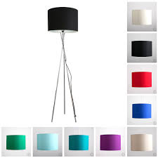 black tripod floor lamp with drum shade large modern standard