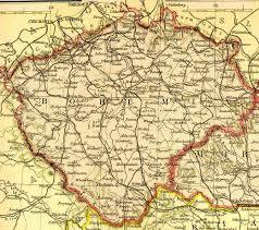 bohemia map a bohemia republic czechoslovakia primer for the