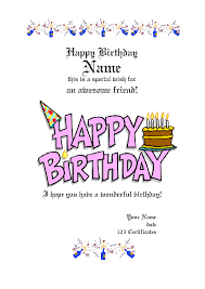 happy birthday gift certificate template jerzy decoration