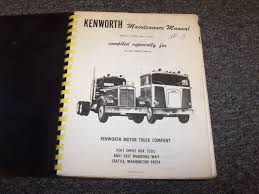 kenworth truck repair manuals u0026 books heavy equipment parts u0026 accs business u0026 industrial