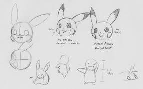 example pikachu sketches sortof tutorial by shamanger on deviantart