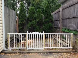 my dad turned an old baby crib into a gate for our dog u0027s run pure